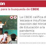 CBDE EN MEDIOS DE COMUNICACIÓN